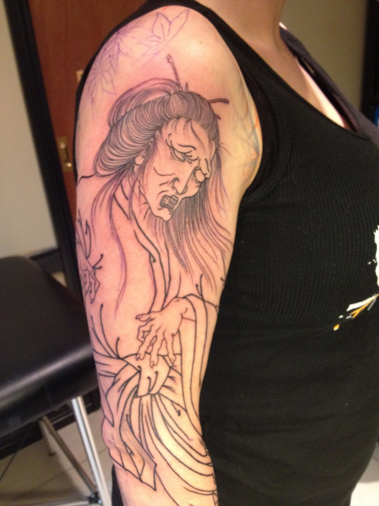 emily's ghost sleeve outline